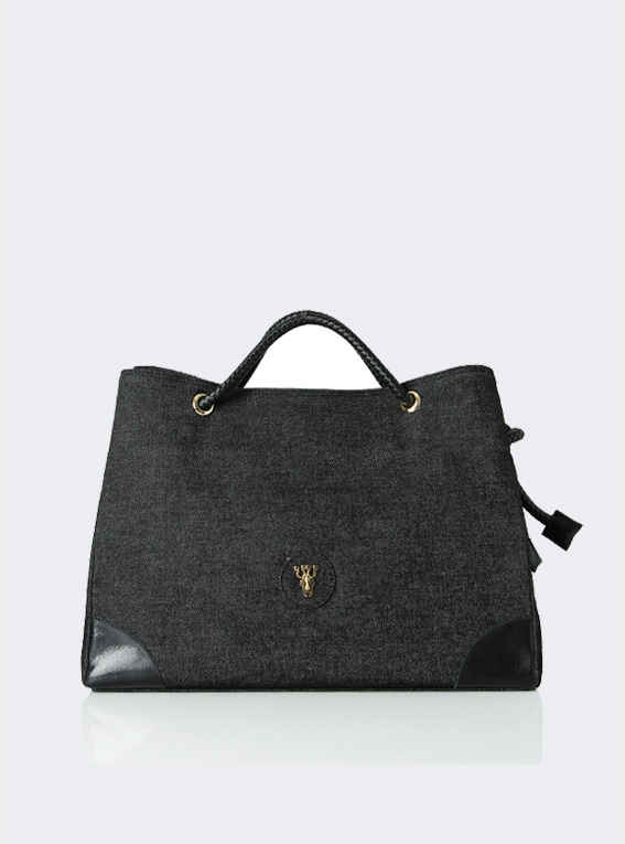 Rope shoulder bag - Black(L)